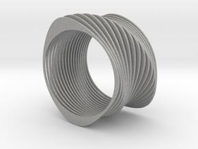Experimental SLICE Bracelet 7.5 cm wide in Aluminum