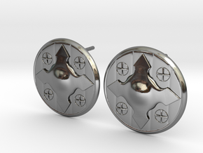Wotan Cross Earring in Fine Detail Polished Silver