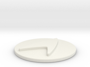 Starfleet Epaulet Button in White Natural Versatile Plastic