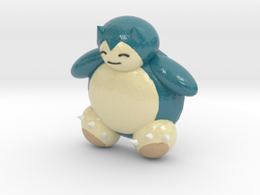 Snorlax (color) in Coated Full Color Sandstone