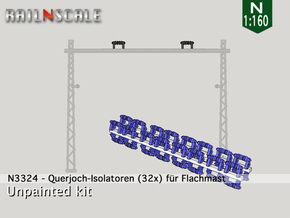 32x Isolatoren für Querjoche (N 1:160) in Smooth Fine Detail Plastic