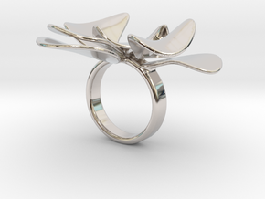 Petals ring - 20 mm in Platinum