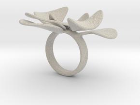 Petals ring - 20 mm in Natural Sandstone