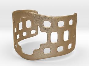 Aztec bracelet in Matte Gold Steel