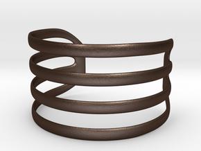 Bangled bracelet in Matte Bronze Steel