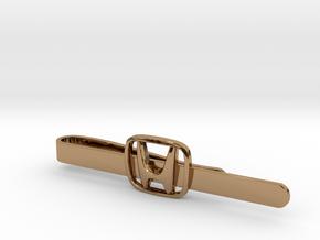 Luxury Honda Tie Clip in Polished Brass