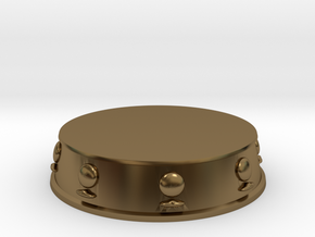 Pawn Base - 1 inch in Polished Bronze