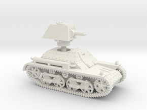 Vickers Light Tank Mk.I (15mm scale) in White Natural Versatile Plastic