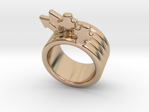 Love Forever Ring 32 - Italian Size 32 in 14k Rose Gold Plated Brass