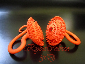 Plugs / gauges/ The Sunflowers 8g ( 3.2 mm) in Orange Processed Versatile Plastic