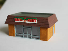 Kwik-E-Mart N Scale in White Natural Versatile Plastic
