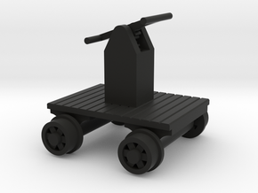 Hand Car - HO 87:1 Scale in Black Natural Versatile Plastic