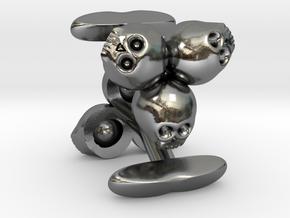 3skull cufflinks in Polished Bronzed Silver Steel