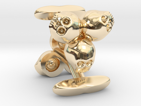 3skull cufflinks in 14K Yellow Gold