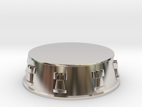 Chess Rook Base - 1 inch in Rhodium Plated Brass