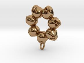Seven Skull pendant in Polished Brass