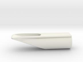 Sopranino saxophone mouthpiece (v03) in White Natural Versatile Plastic