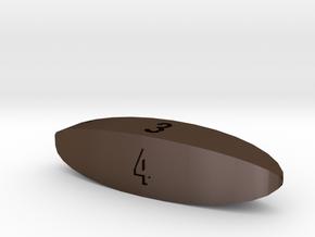 d4 Steinmetz Stick Die (numbered) in Polished Bronze Steel