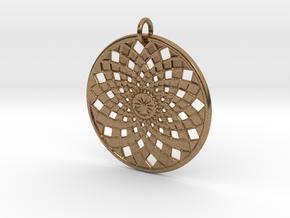 Flower Mandala No 2 in Natural Brass