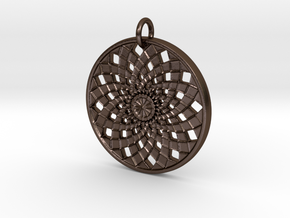 Flower Mandala No. 2 (for bronze steel) in Polished Bronze Steel