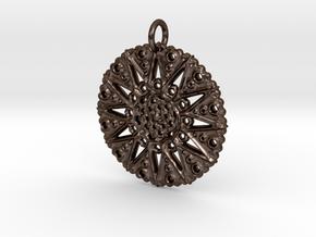 Star Mandala (for bronze steel) in Polished Bronze Steel