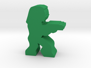 Game Piece, Space Nomad Engineer in Green Processed Versatile Plastic