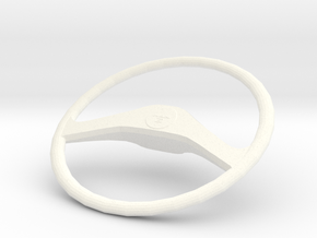 MAN F2000 Silent Steering wheel in White Strong & Flexible Polished