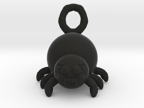Cute Spider in Black Natural Versatile Plastic