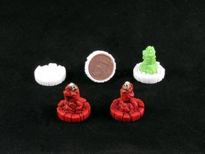 Faction marker base (8 pcs) in White Strong & Flexible Polished