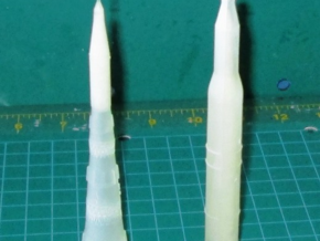 1/700 NASA Saturn 5 Rocket Hollowed in Smooth Fine Detail Plastic