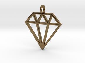 Pendant 'Diamond' in Polished Bronze