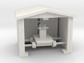 Hand Car-Shack-Opening Doors - HO 87:1 Scale in White Natural Versatile Plastic