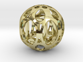 Sphere housing a cube in 18k Gold Plated Brass