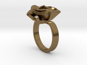 Rose ring in Polished Bronze