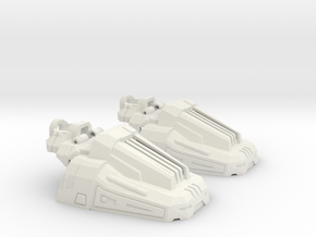 Combiner Guardian Slippers in White Natural Versatile Plastic