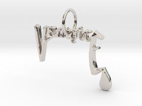 Vampire Pendant by Graphic Glee in Rhodium Plated Brass
