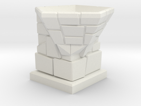 D12 Die Holder (Stone Tower) Offset in White Strong & Flexible