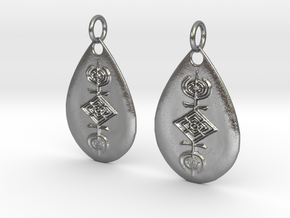 Sigil of the Cosmos earrings in Natural Silver