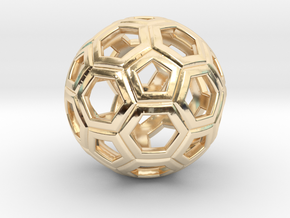 Soccer Ball 1 Inch in 14K Yellow Gold