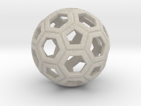 Soccer Ball 1 Inch in Natural Sandstone