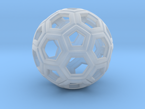 Soccer Ball 1 Inch in Smooth Fine Detail Plastic