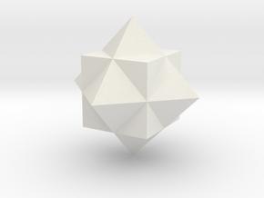 Gamma Star in White Natural Versatile Plastic
