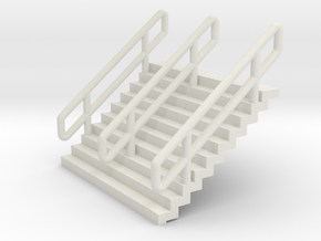 N Scale Stairs H12.5mm in White Strong & Flexible