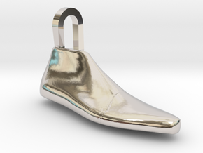Pendant Shoe Last in Rhodium Plated Brass