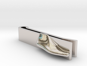 Tie-Clip Shoe Last in Platinum