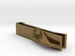 Tie-Clip Shoe Last in Polished Bronze