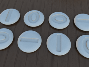 Byte Dice in White Strong & Flexible