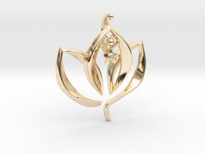 Enlightened Living in 14k Gold Plated Brass