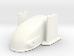 1/18 Dragster Nose in White Processed Versatile Plastic
