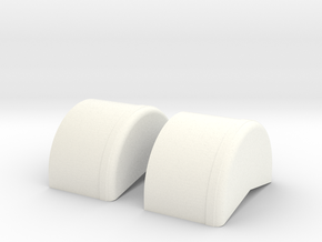 1/18 40 Inch Wheel Tubs in White Processed Versatile Plastic